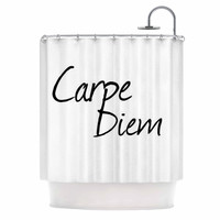 "Oriana Cordero ""Carpe Diem"" Black White Shower Curtain"