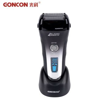Super Fast Charged Electric Shaver LCD Display Stainless Steel Razor Waterproof Men Beard Trimmer Shaving Machine barbeador 50