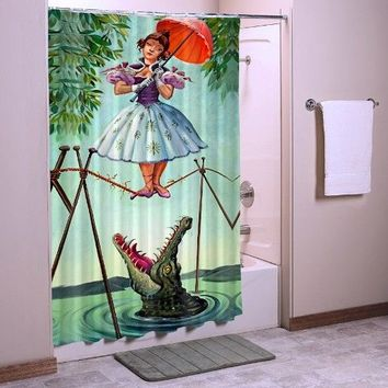 """Luxury Haunted Mansion Stretching Disney Best Quality Shower Curtain 60"""" x 72"""""""