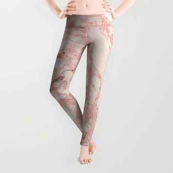 Pink Marble Leggings by allisone