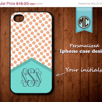 20% OFF SALE Personalized iPhone 4 Case - Plastic iPhone case - Rubber iPhone case - Monogram iPhone case - iPhone 4s case - K091