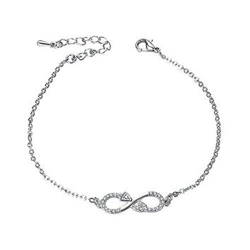 Yoursfs Infinity Bracelet For Women Infinity Endless Love Symbol Charm Chain Bracelet