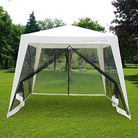 Outdoor Canopy Gazebo Party Wedding Tent Screen House Sun Shade Shelter Enclosed