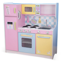 Pastel Kitchen, Pink/Blue, Large, Children's Toys