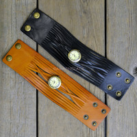 Valiant Rebel Leather Cuff Watches