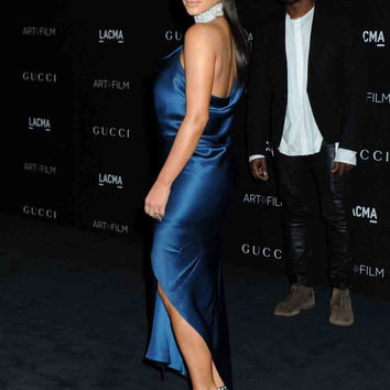 Celebrity Ankle Length Vestido de festa jennifer lopez dresses evening Dress kylie kendall