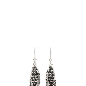 Dark Plumes Drop Earrings - Marc Jacobs