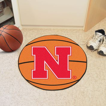 "Nebraska Basketball Mat 27"" diameter"