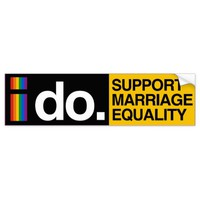 I DO SUPPORT MARRIAGE EQUALITY - -.png Car Bumper Sticker