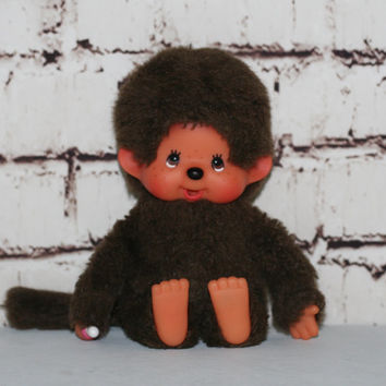 70s Monchhichi Boy Plush Toys Monkey Monchichi Sekiguchi Sucker kawaii brown Anime Cartoon Japan lolita cosplay