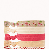 Polka Dot & Floral Hair Tie Set