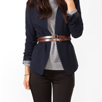 Paneled Longline Jacket w/ Belt