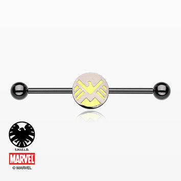 The Agents of S.H.I.E.L.D Black Titanium PVD Industrial Barbell