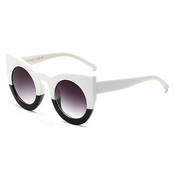 Women's Large Mod Big Frame Sudo-Cat Eye Sunglasses - Multiple Colors Available!!