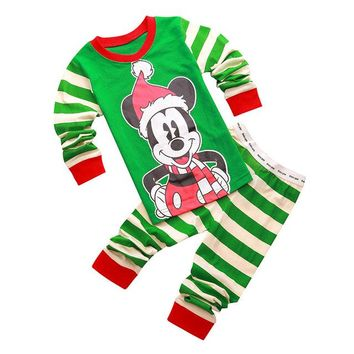 Mickey Santa Christmas Pajama Set