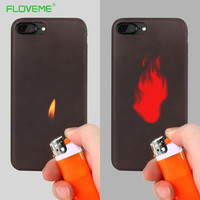 FLOVEME Matte PC Thermal Sensor Case for iphone 6 6s Thermal Heat Induction Soft Case Fundas for iphone 7 7plus Protective Cover