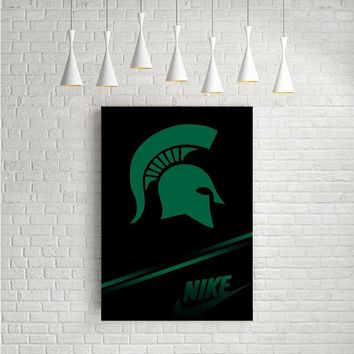 MICHIGAN STATE NIKE LOGO ARTWORK POSTERS