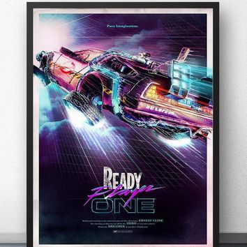 Ready Player One 2018 Back To The Future Movie Wall Art Wall Decor Silk Prints Art Poster Paintings For Living Room No Frame