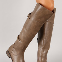 Breckelle Rider-24 Buckle Round Toe Riding Boot