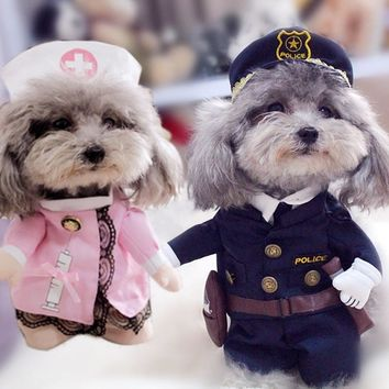 Creative Dog Clothes for Small Dogs Clothing Funny Dog Costumes Dog Coats Jackets Christmas Yorkies Chihuahua Clothes 11bY2S3