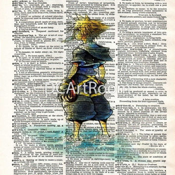 Kingdom Hearts - Sora - Dictionary Art Print -  Home Decor - Hang On Walls