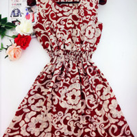 Red Flower Sun Dress