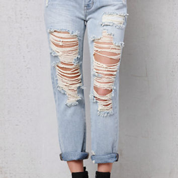 PacSun Thrashed Wash Ripped Boyfriend Jeans at PacSun.com