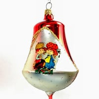 Vintage 1980's Columbia Blown Glass Christmas Tree Ornaments