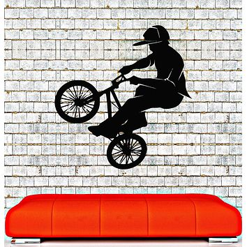 Back To Search Resultshome & Garden Art Home Decor Mural Jump Bike Cyclist Bmx Freestyle Jumping Wall Decal Extreme Sports Wall Sticker Boys Room Vinyl Fixing Prices According To Quality Of Products Home Decor