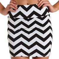 CHEVRON STRIPE MINI SKIRT