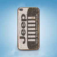 jeep the trail never ends  customized for iphone 4/4s/5/5s/5c ,samsung galaxy s3/s4/s5 and ipod 4/5 cases