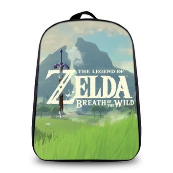 New Fashion The Legend of Zelda Breath of the Wild Cosplay Backpack Cartoon Bag Anime School Bag For Teenage Daily Backpack