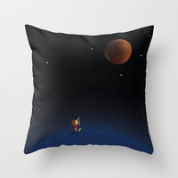 The Red Moon Throw Pillow by Deepti Munshaw | Society6