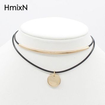 DKF4S Coins rope Chocker Women Tassel Tattoo Velvet choker Necklace Statement Collier Ras Du Cou femme Jewelry Collana Collares Mujer