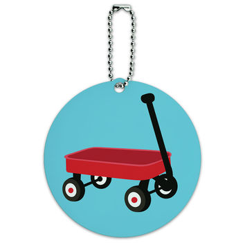 Little Red Wagon Round ID Card Luggage Tag