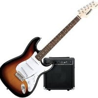 Squier by Fender Strat Electric Guitar Starter Pack, Sunburst