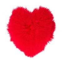 Liska Fuzzy Heart Pillow - Farfetch