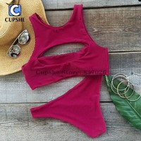 Cupshe  Cutout  Bikini  Women  Summer  Swimsuit  Ladies