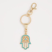 Jeweled Hand of Hamsa Bag Charm