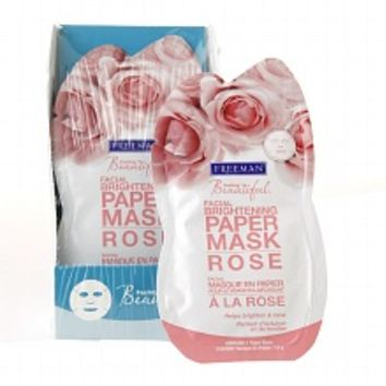 Freeman Feeling Beautiful Facial Brightening Paper Mask Rose | Walgreens