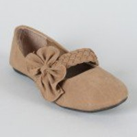 Lily-17 Bow Mary Jane Ballet Flat