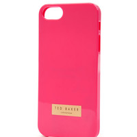 Rubber iPhone 5 case - Bright Pink | Gift Accessories | Ted Baker UK