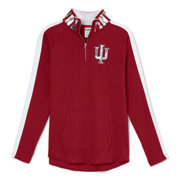 Indiana University Bling Half-Zip Tunic - PINK - Victoria's Secret