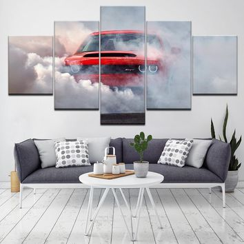 Canvas Painting dodge challenger demon Wall Art Pictures 5 Pieces Modular Wallpapers Poster Print for living room Home Decor
