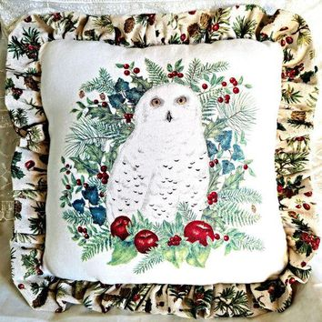 Snowy Owl Accent Pillow - 1 Available