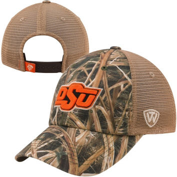 Top of the World Oklahoma State Cowboys Blades Camo Trucker Hat - Mossy Oak Camo