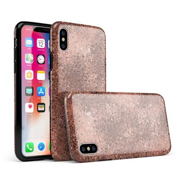 Rose Gold Liquid Abstract - iPhone X Swappable Hybrid Case