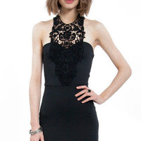Halted Lace Bodycon Dress $37