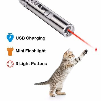 Cat LED laser Chase Toy 3 in 1 Function Training Tool Funny Cat Interactive Chaser Toys Light Pen Pet Toys Dropshipping