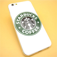 Hot Sale Fashion Starbuck Coffee TPU Slim Back Cover Skin for Apple iPhone 6 6s 4.7'' Ultra Thin Soft Phone Case Shell freeshipping=CA096